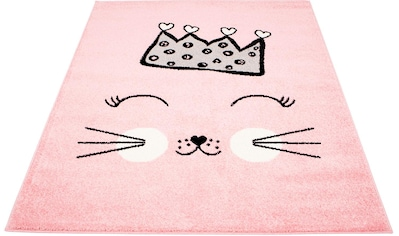 Carpet City Kinderteppich »Bubble Kids 1331«, rechteckig, 11 mm Höhe, Katzen Design, Kurzflor kaufen