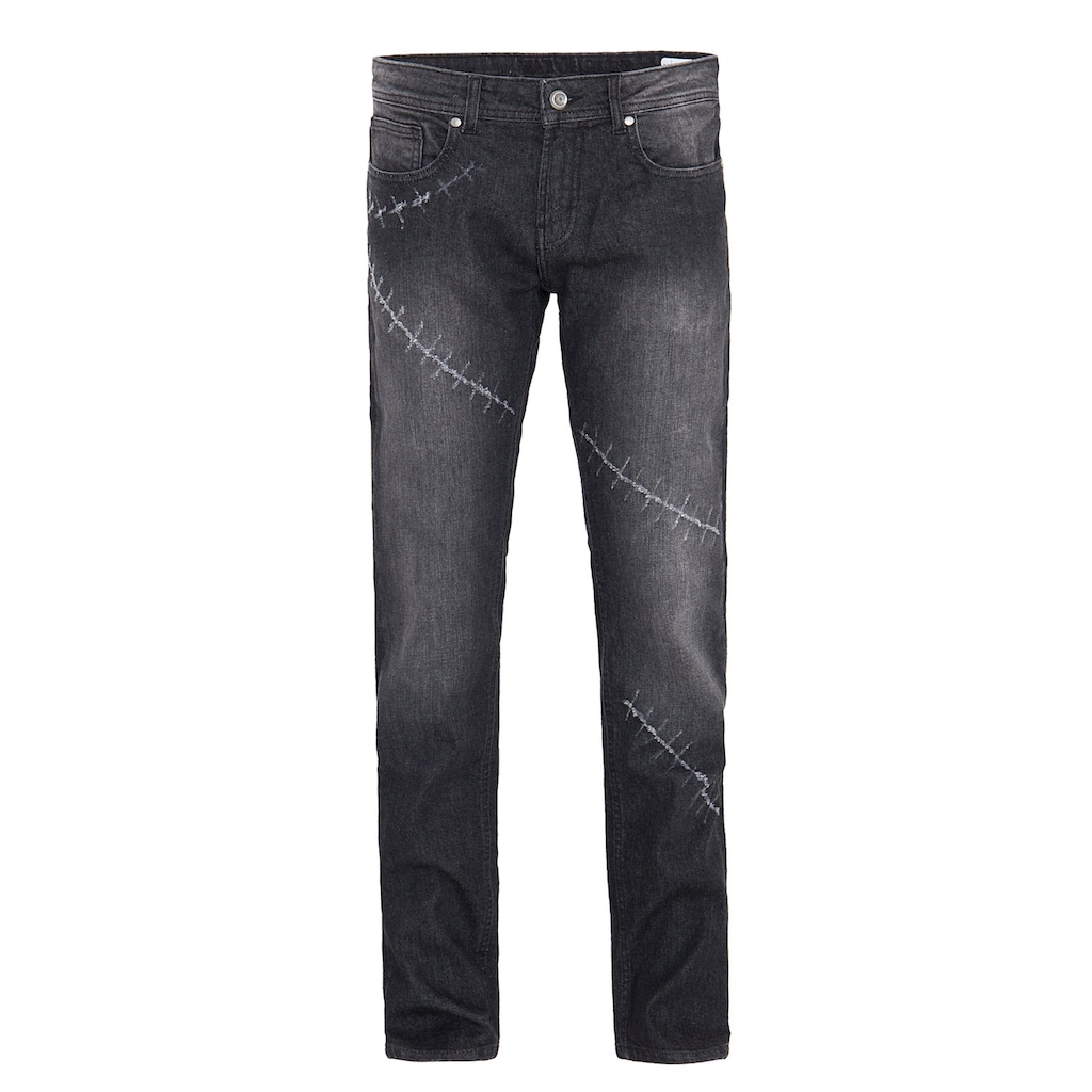Way of Glory Destroyed-Jeans »Carlos«, mit Destroyed Details