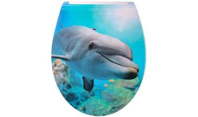 Sanilo WC-Sitz »Flat Delphin«, mit Absenkautomatik kaufen