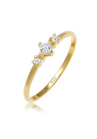 Diamore Diamantring »Prinzessschliff Diamant (0.13 ct) 585 Gelbgold« kaufen