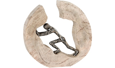 Casablanca by Gilde Dekofigur »Skulptur Pushing«, Dekoobjekt, Höhe 29 cm, aus Metall... kaufen