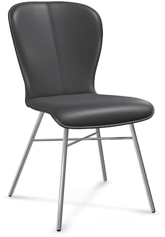 bert plantagie Stuhl »BLAKE FOUR 612A«, 2-Set in Leder, Gestell aus Edelstahl kaufen