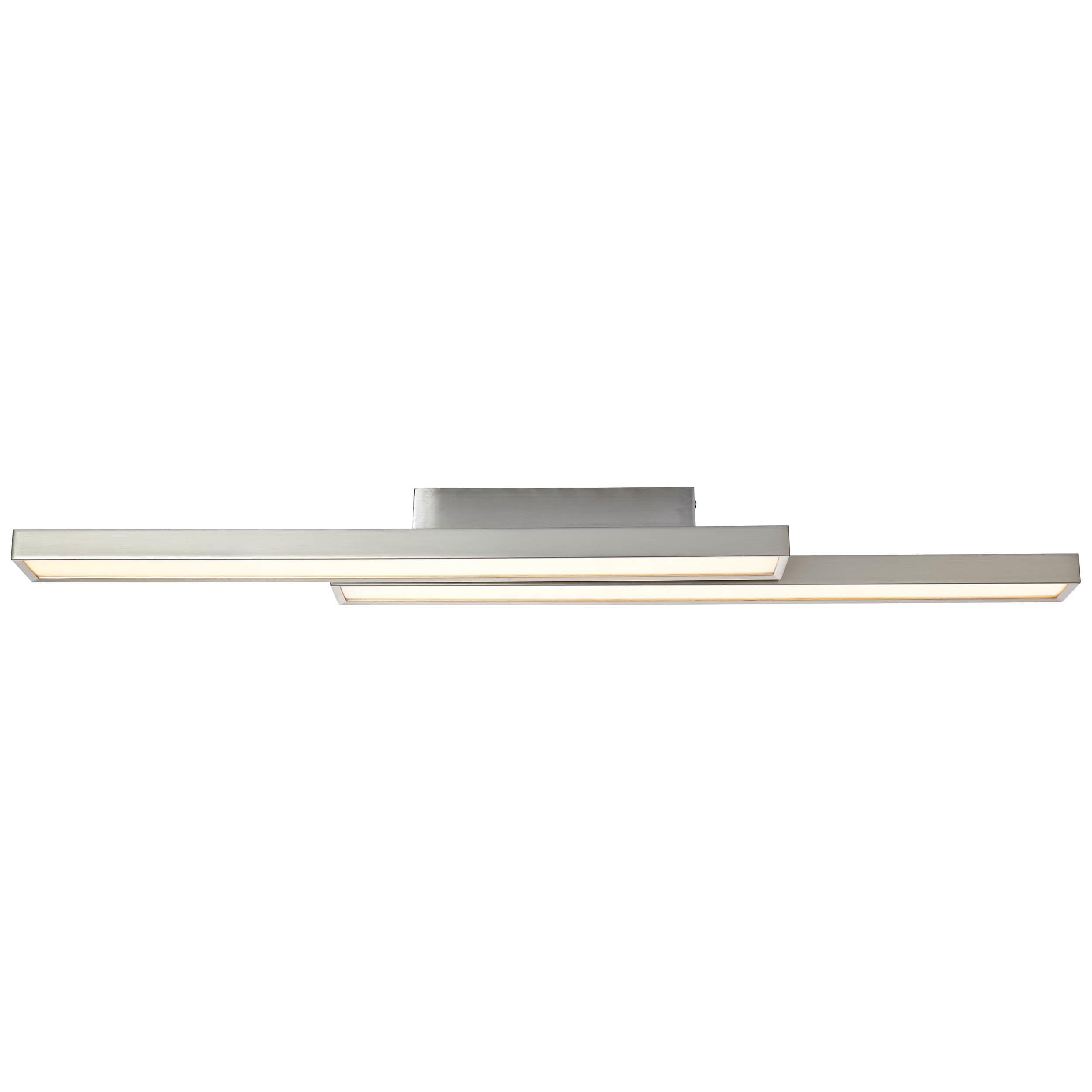Brilliant Leuchten Sword LED Deckenleuchte 2flg nickel eloxiert/weiß WiZ-App