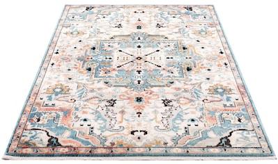 Carpet City Teppich »Novel 8616«, rechteckig, 11 mm Höhe, mit Fransen, Wohnzimmer kaufen