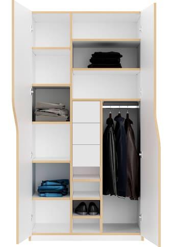 Müller SMALL LIVING Kleiderschrank »PLANE Ausstattung Nr. 6«, inklusive 3 Schubladen... kaufen