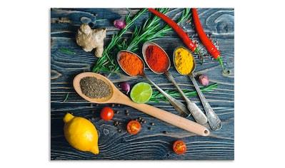 Artland Küchenrückwand »Gewürze in Metalllöffeln« kaufen