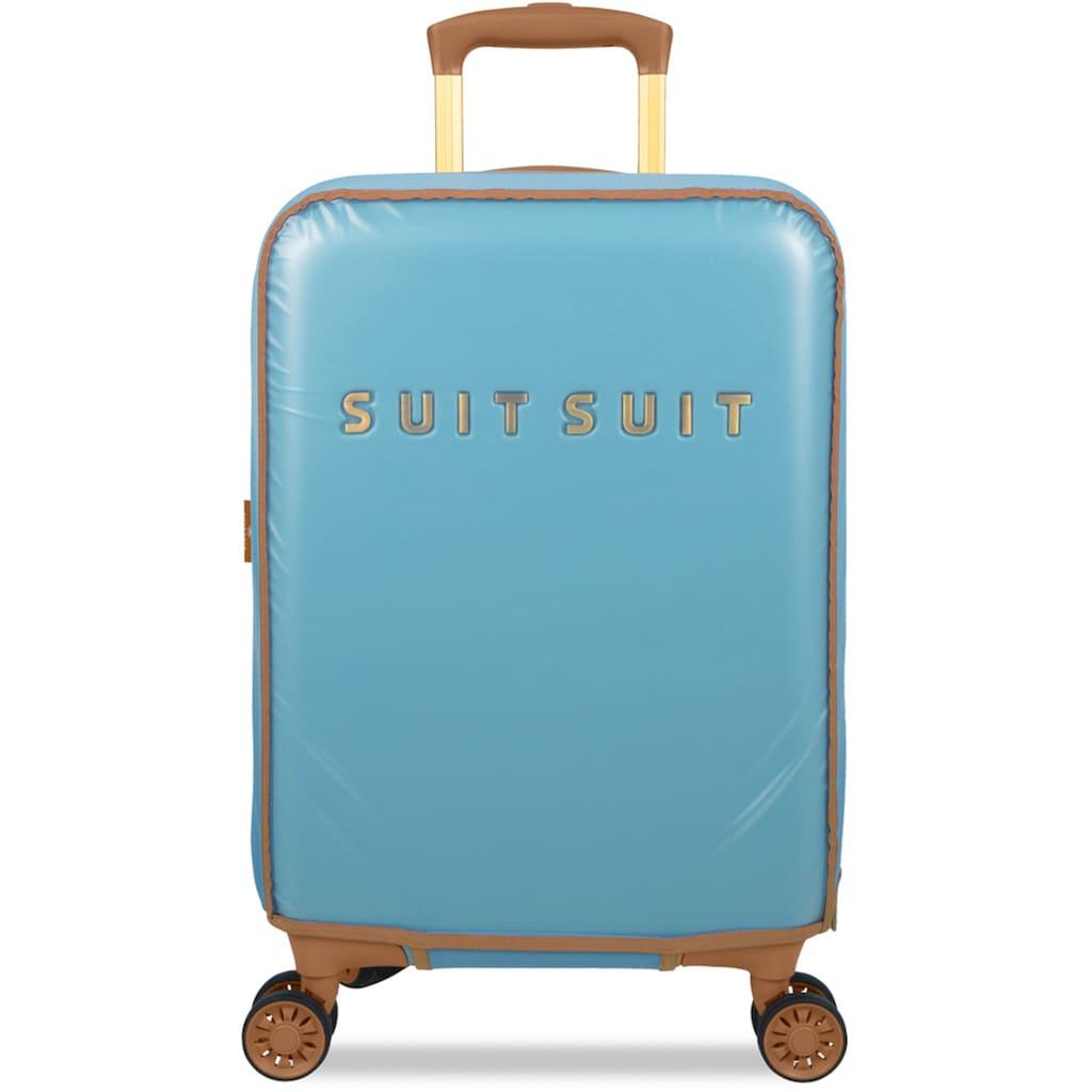 suitsuit Hartschalen-Trolley »Fab Seventies, 55 cm«, (Set), 4 Rollen, 4 Rollen, inkl. Travel Kit und Schutzhülle
