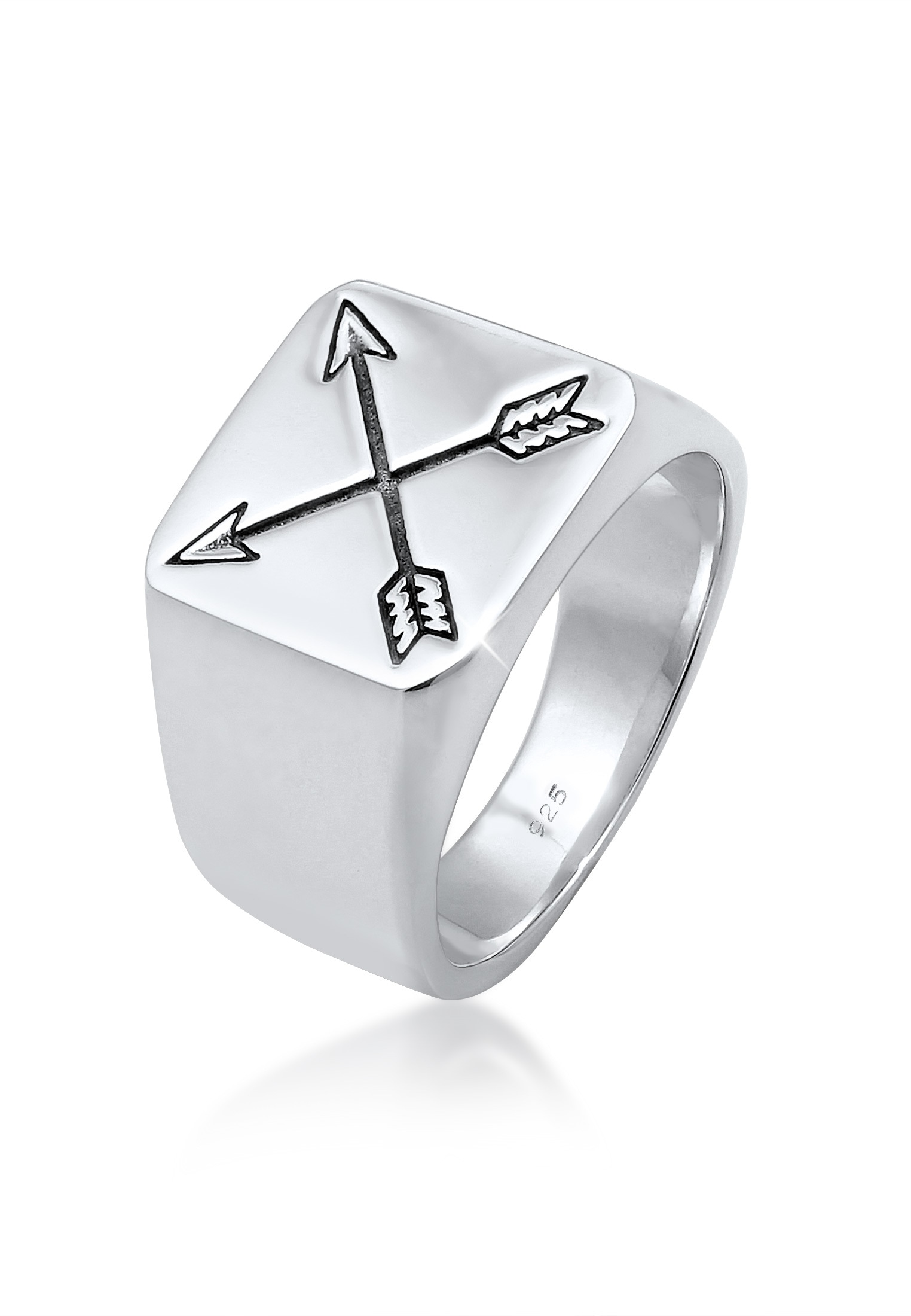 Kuzzoi Silberring Herren Siegelring Matt Basic Pfeil 925er Silber | Schmuck > Ringe > Silberringe | Kuzzoi
