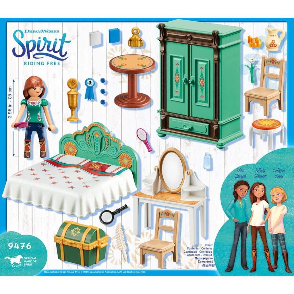 Playmobil® Konstruktions-Spielset »Luckys Schlafzimmer (9476), Spirit Riding Free«, Made in Europe