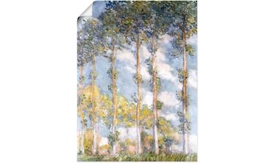 Artland Wandbild »Pappeln. 1881«, Bäume, (1 St.), in vielen Größen & Produktarten... kaufen