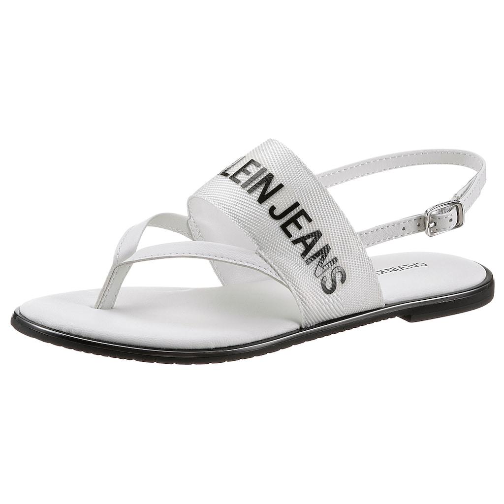Calvin Klein Sandale, mit weichem Zehensteg