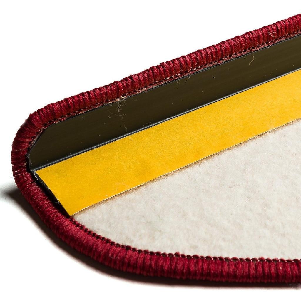 Living Line Stufenmatte »Trend«, halbrund, 8 mm Höhe, große Farbauswahl, Velours, 15 Stück in einem Set