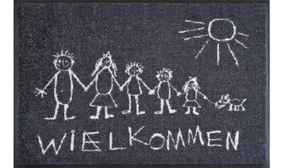 wash+dry by Kleen-Tex Fußmatte »Wielkommen«, rechteckig, 9 mm Höhe, Schmutzfangmatte,... kaufen