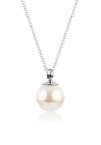 Nenalina Perlenkette »Muschelkernperle Perlen - Anhänger Rund 925 Silber« kaufen