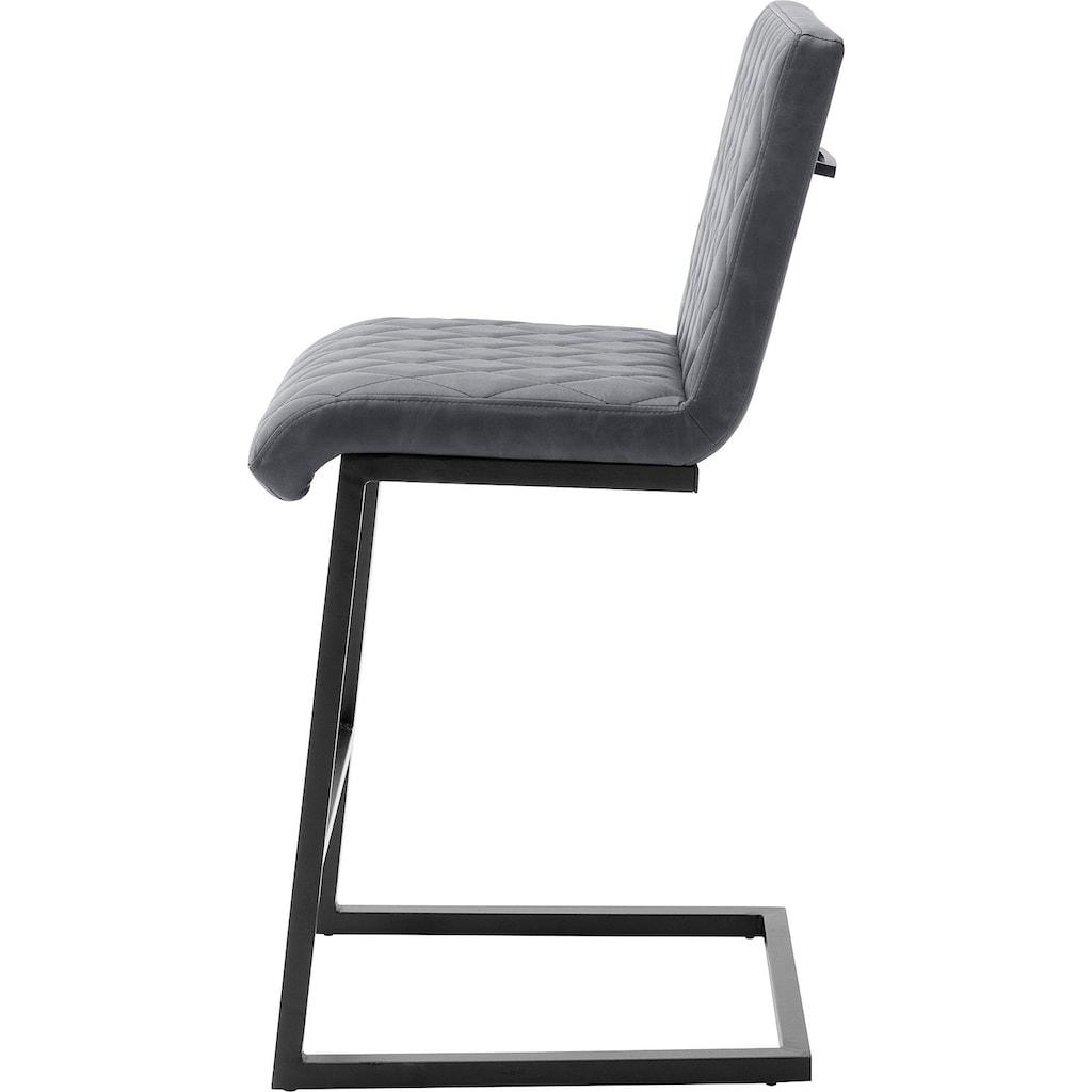 MCA furniture Bistrostuhl »Kian«, Tresenhocker im Vintage Look, Belastbar bis 120 kg