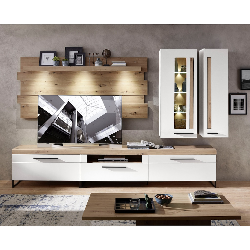 Innostyle Wohnwand »Loft Two«, (5 tlg.), inkl. LED-Beleuchtung