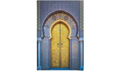 Reinders! Poster »Goldene Tür Orientalisch - Stilvoll - Farbenfroh - Köningspalast... kaufen