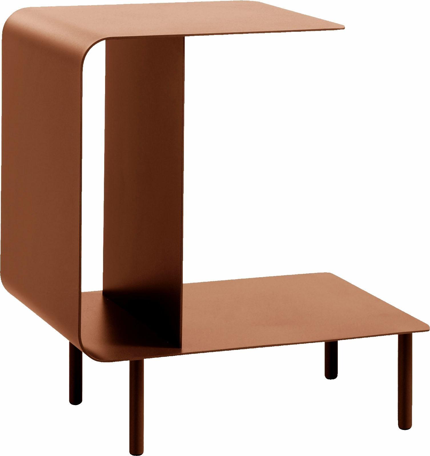 hülsta Beistelltisch MULTI -VARIS 03, aus Metall, Höhe 52 cm rot Beistelltische Tische