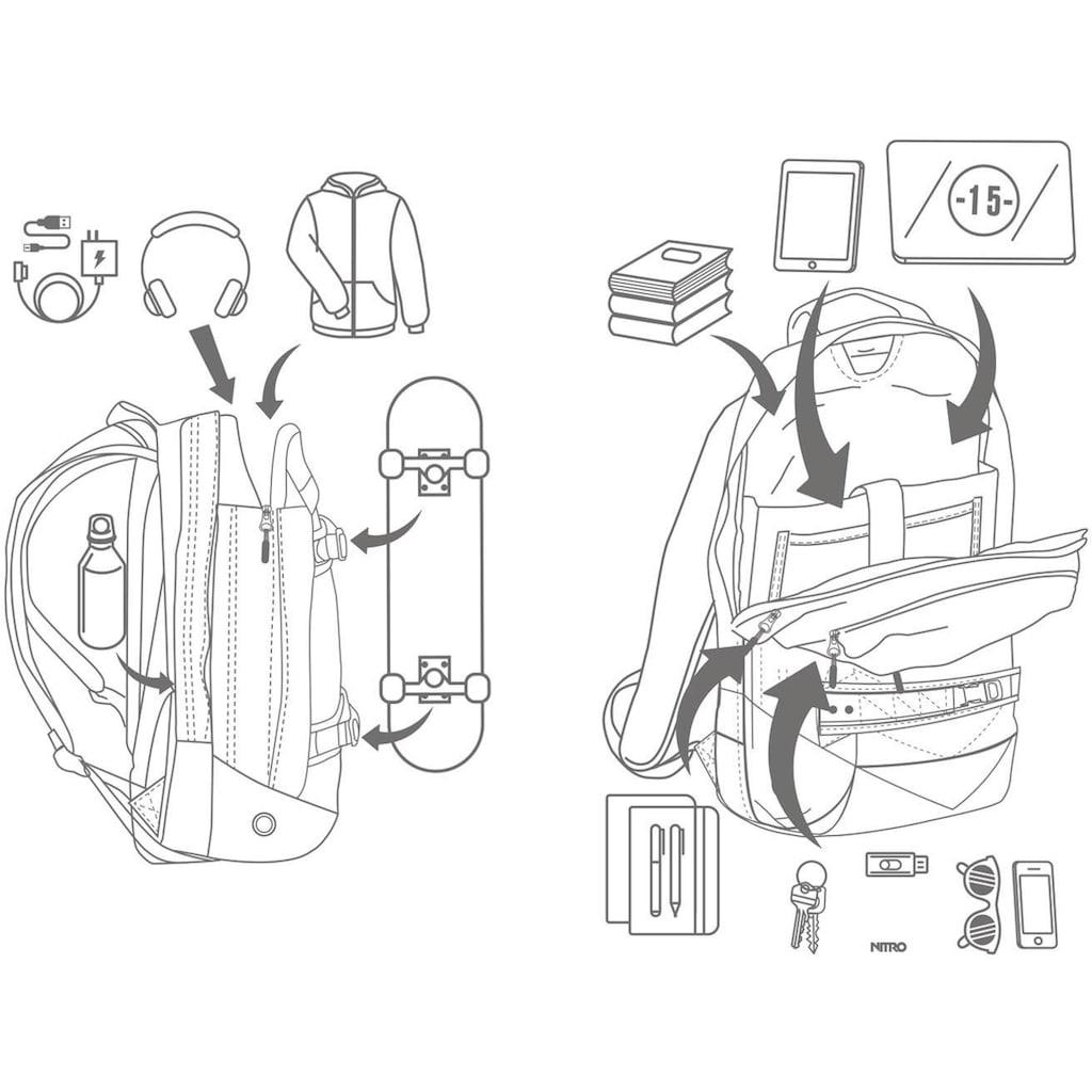NITRO Laptoprucksack »Aerial, Waxed Lizard«