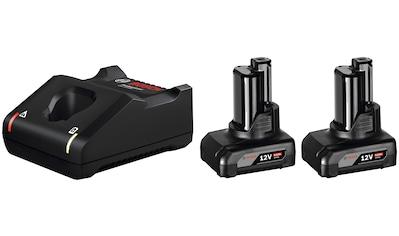 BOSCH PROFESSIONAL Akku - Set »GAL 12V - 40 / GBA 12V 6.0Ah«, 12 V, 6 Ah, inkl. 2 Akkus und Ladegerät kaufen