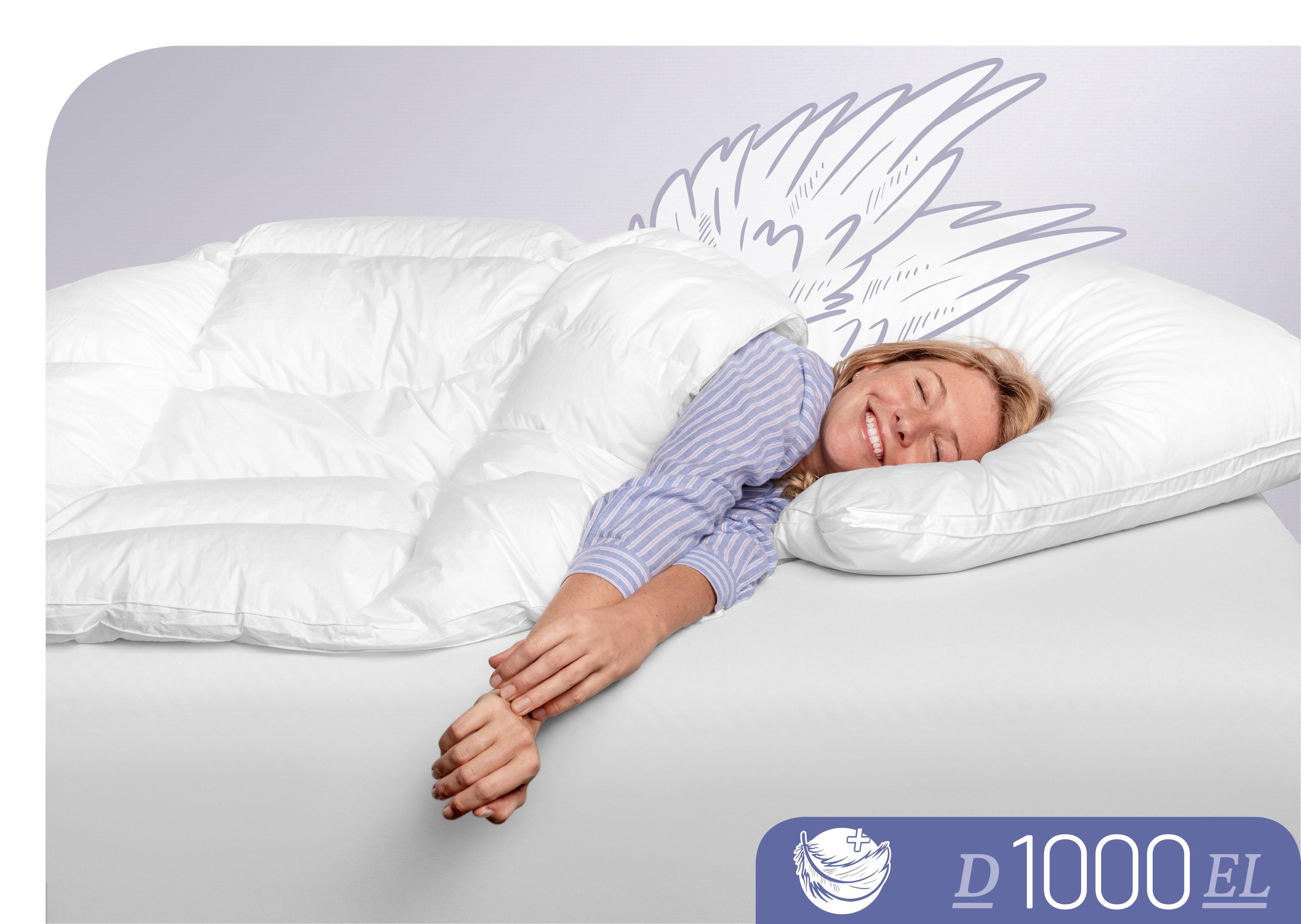 Daunenbettdecke D1000 Schlafstil extraleicht