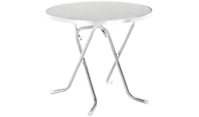 BEST Gartentisch »Primo«, klappbar, Stahl/Alcolit, ø 80 cm kaufen