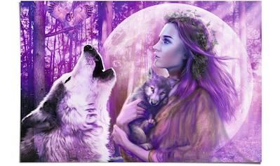 Reinders! Poster »Vollmond Wölfe«, (1 St.) kaufen