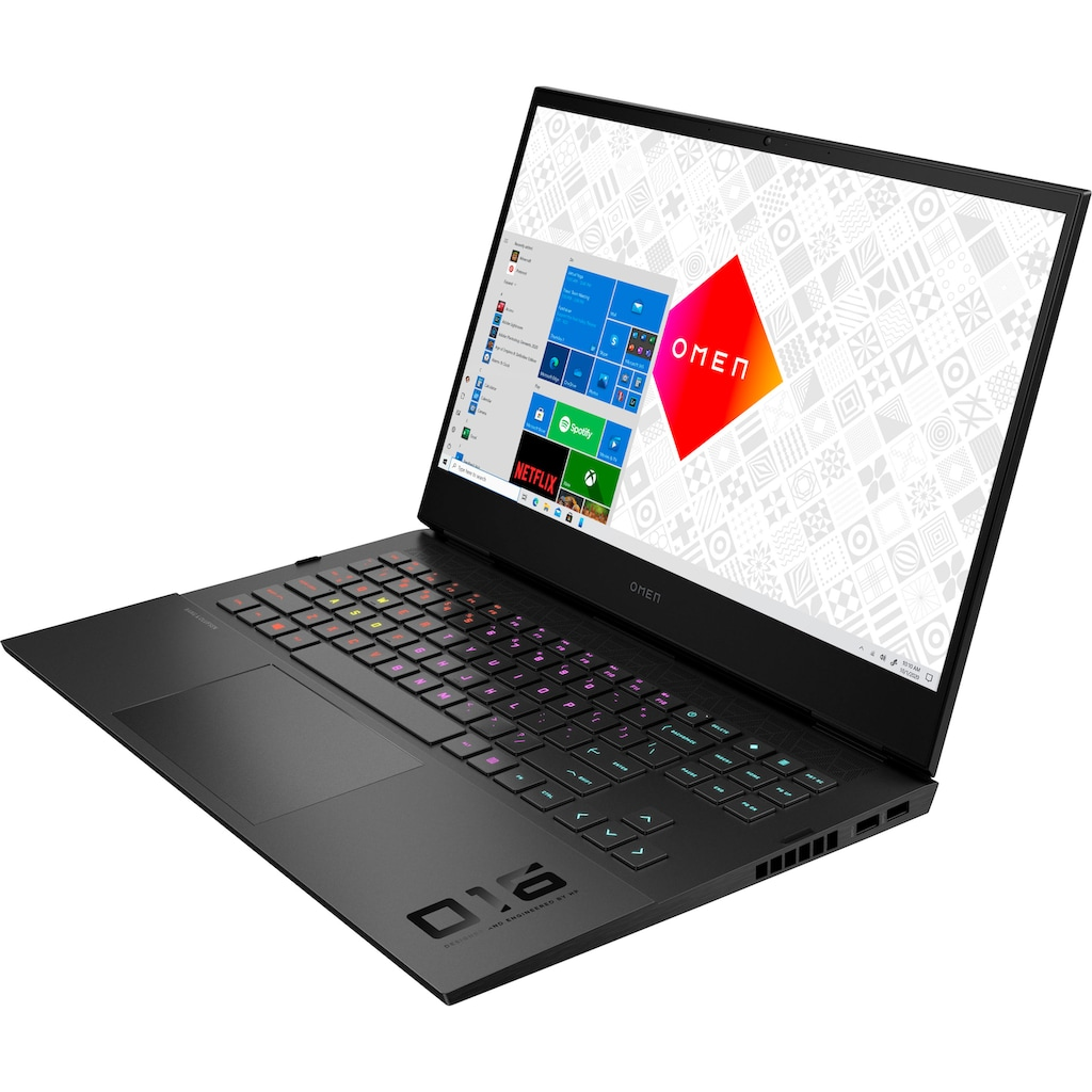 "HP Gaming-Notebook »16-d0254ng«, (40,9 cm/16,1 "" Intel Core i5 GeForce RTX™ 3050 Ti\r\n 512 GB SSD), Kostenloses Upgrade auf Windows 11, sobald verfügbar"