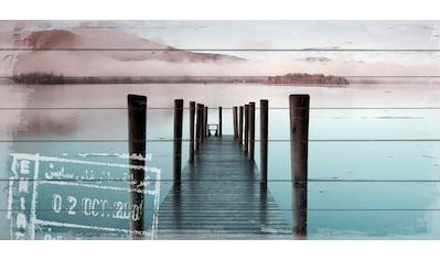 queence Holzbild »Steg am Wasser«, 40x80 cm kaufen