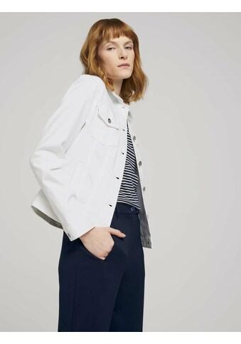 TOM TAILOR Jeansjacke »Gefärbte Jeansjacke mit Bio-Baumwolle und Knitterdetails« kaufen
