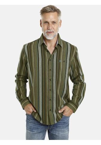 Jan Vanderstorm Streifenhemd »ERWINEK«, weiche Twillqualität kaufen