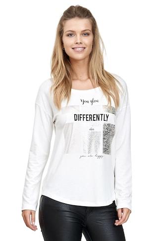 Decay Langarmshirt, mit Glanzprint kaufen