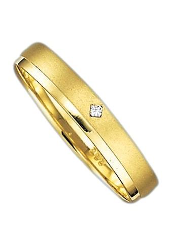 Firetti Trauring mit Gravur »glanz, sandmatt, Diamantschnitt, 3,5 mm breit«, Made in... kaufen
