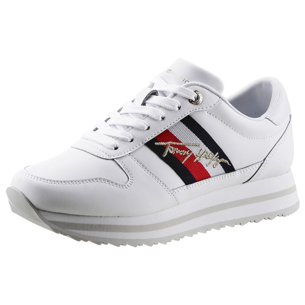 Tommy Hilfiger Keilsneaker »TH SIGNATURE RUNNER SENAKER«, mit Tommy Hilfiger-Signatur