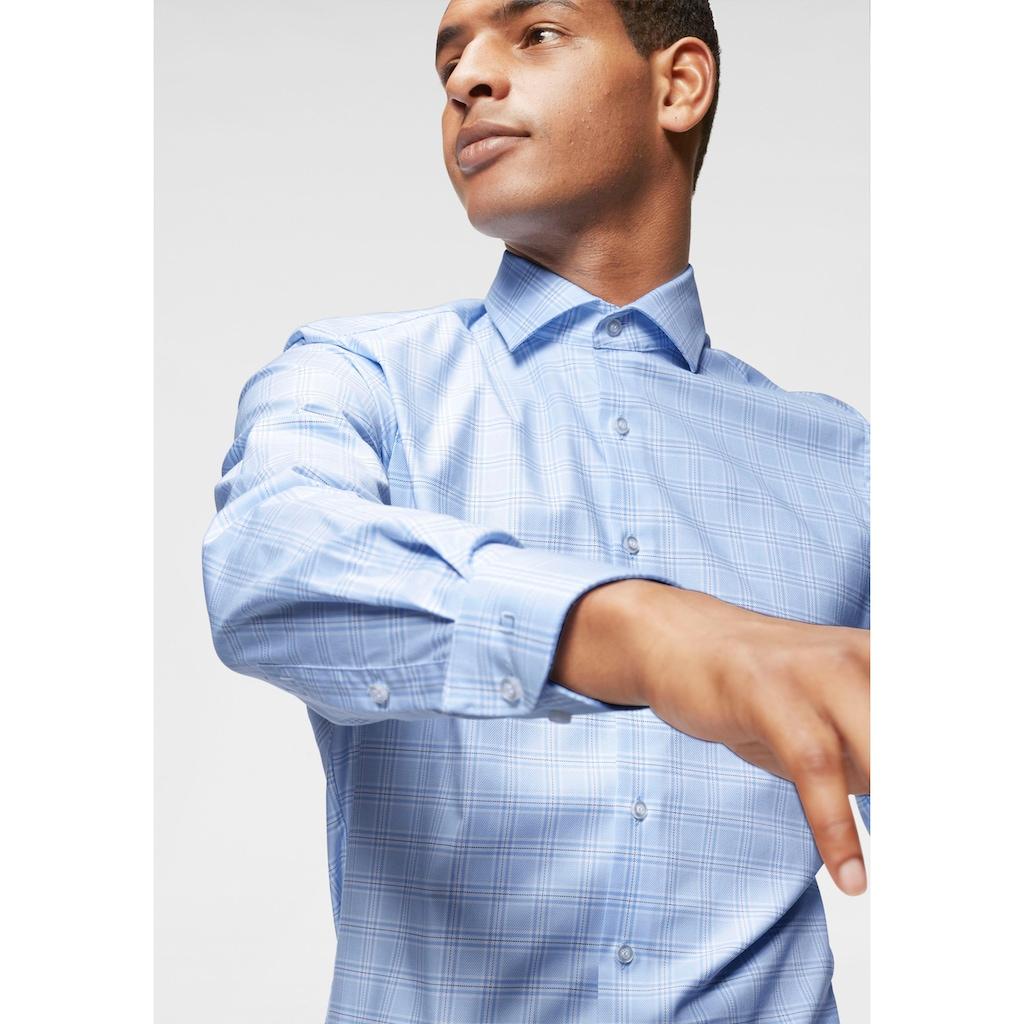 OLYMP Businesshemd »Level Five body fit«, Karodessin, bügelleicht
