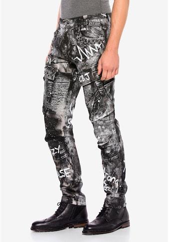 Cipo & Baxx Bequeme Jeans, mit stylischem Glitzereffekt kaufen