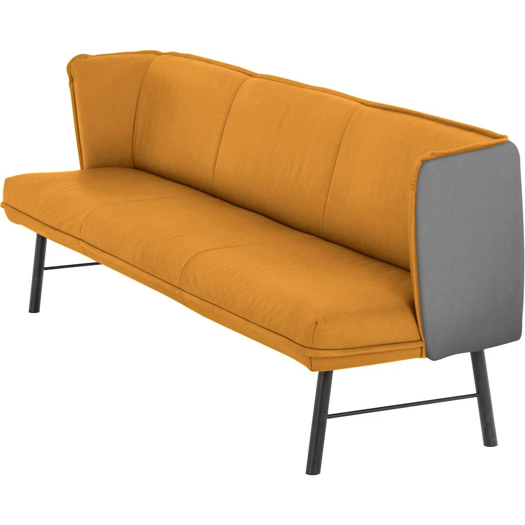 W.SCHILLIG Essbank »chloé«, 3-Sitzer Küchensofa mit Absetzung im Rücken, inspiriert von Pantone 2021, in 3 Breiten