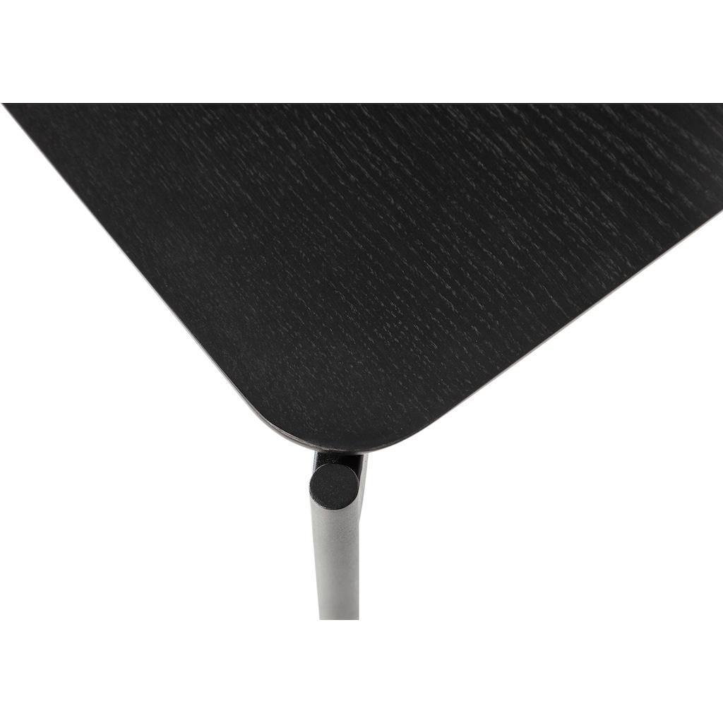 Homexperts Beistelltisch »Ida«, B 45 cm, quadratisch, in Eiche natur oder schwarz lackiert