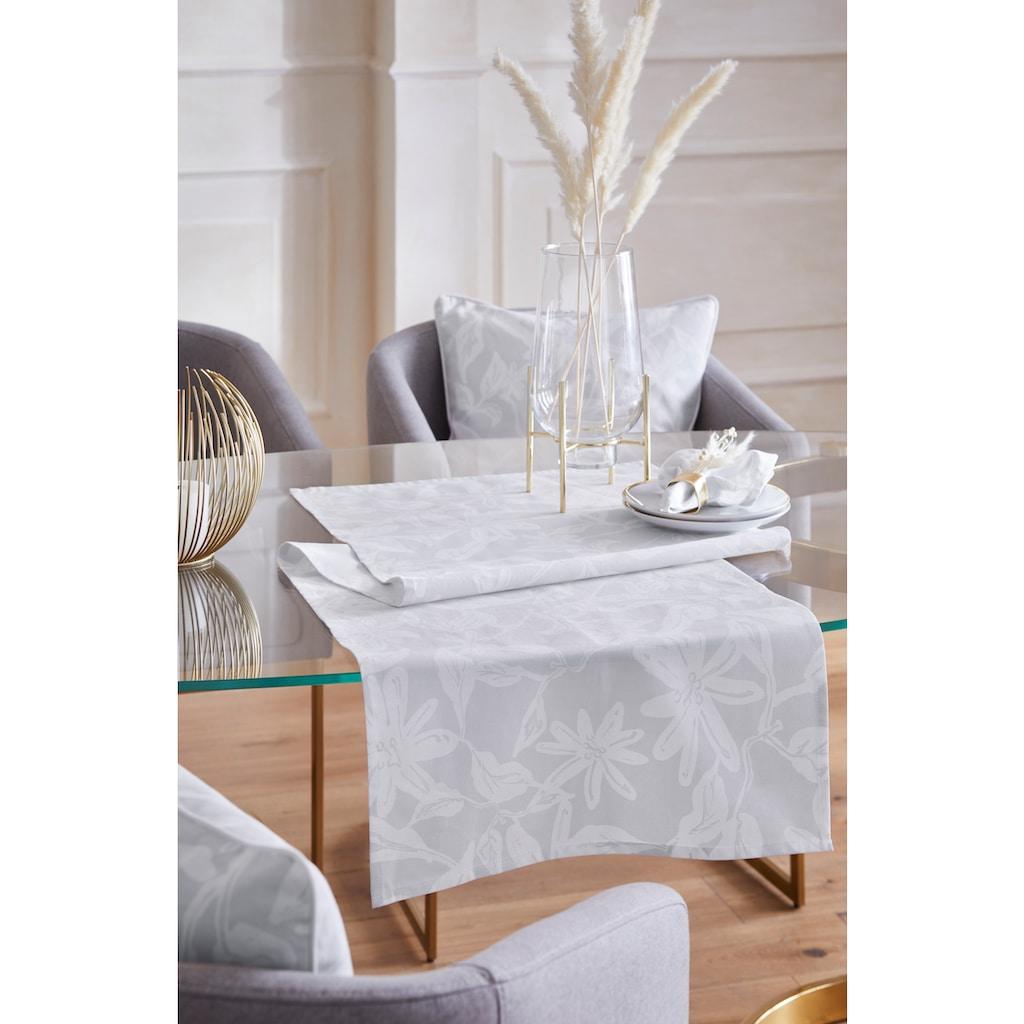 Guido Maria Kretschmer Home&Living Tischläufer »Flower«, (Set, 2 St.), mit Blätter- und Blütenmotiv