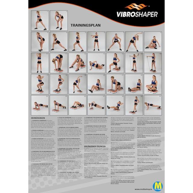 VibroShaper™ Vibrationsplatte 3 Intensitätsstufen 200 Watt (Set, mit Trainingsbändern)