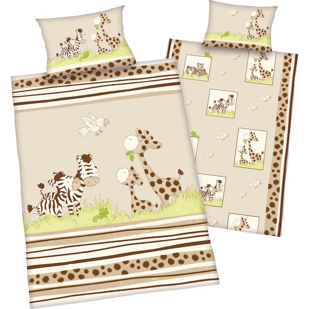 Baby Best Babybettwäsche »Zebra«, mit niedlichem Motiv
