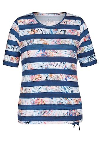 Rabe T-Shirt, mit Allover-Muster und Bindeband kaufen