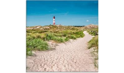 Artland Glasbild »Leuchtturm auf der Insel Amrum«, Gebäude, (1 St.) kaufen