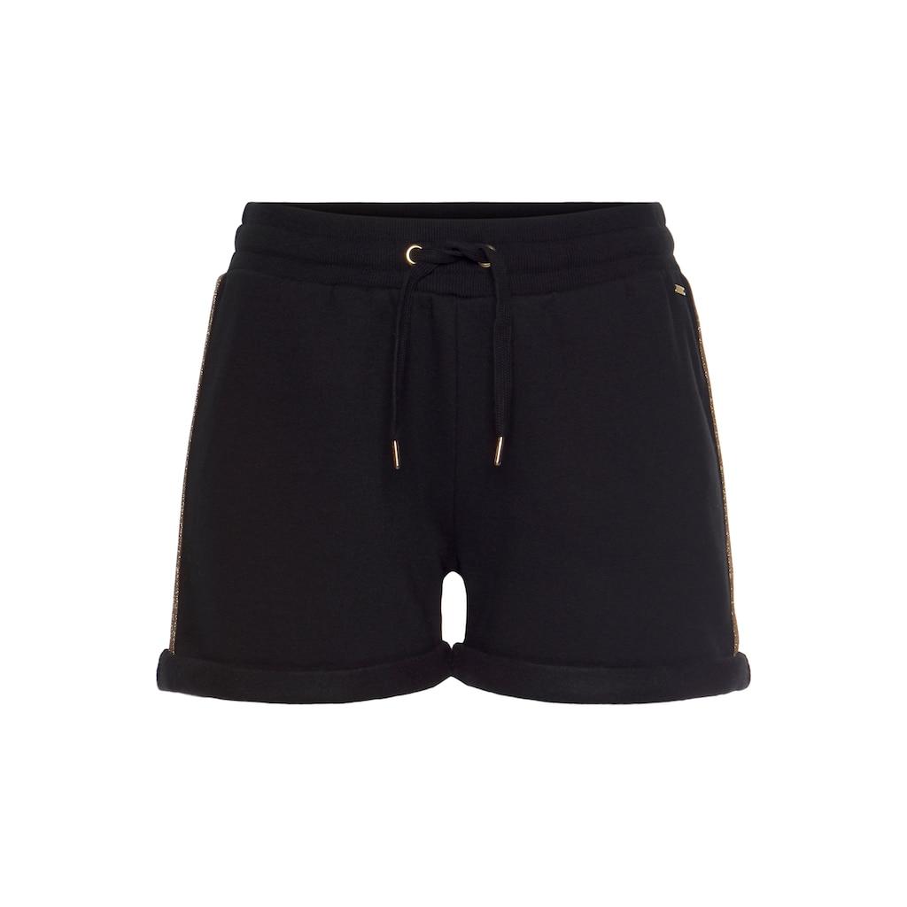 Buffalo Shorts, mit Kordelzug und glitzernden Seitenstreifen