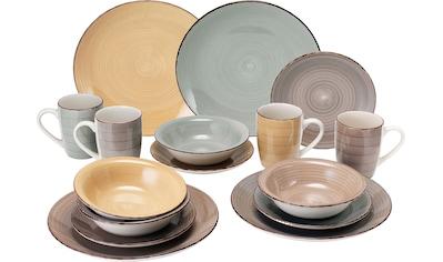 van Well Geschirr-Set »Sorrento«, (Set, 16 tlg.), Mix aus 4 Farben kaufen