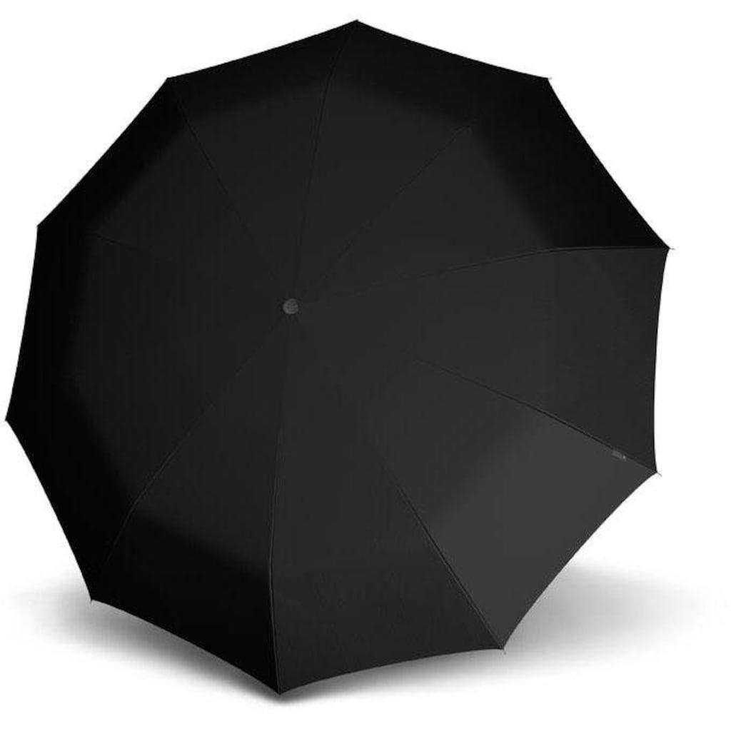 Knirps® Stockregenschirm »T.771 Long Automatic, uni black«