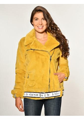 Maze Fake Fur Jacke mit asymmetrischem Reißverschluss »Malibu« kaufen