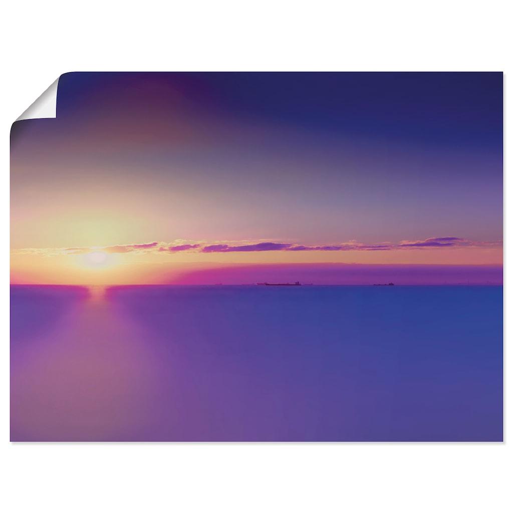 Artland Wandbild »Sonnenuntergang Atlantischer Ozean«, Gewässer, (1 St.), in vielen Größen & Produktarten - Alubild / Outdoorbild für den Außenbereich, Leinwandbild, Poster, Wandaufkleber / Wandtattoo auch für Badezimmer geeignet
