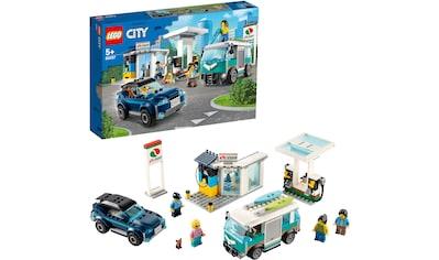 "LEGO® Konstruktionsspielsteine ""Tankstelle (60257), LEGO® City Nitro Wheels"", Kunststoff, (354 - tlg.) kaufen"