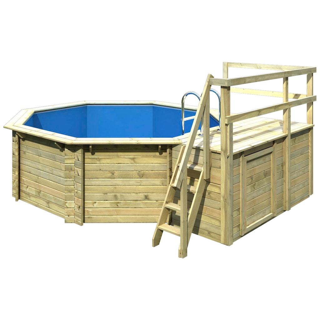 Karibu Achteckpool »Holzpool Gr. 1 Set C«